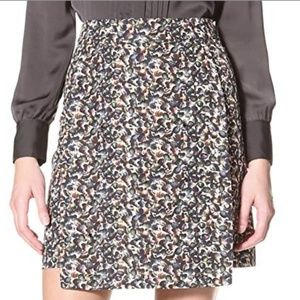 Cynthia Rowley Jeweled Printed Skirt Escargot (0)